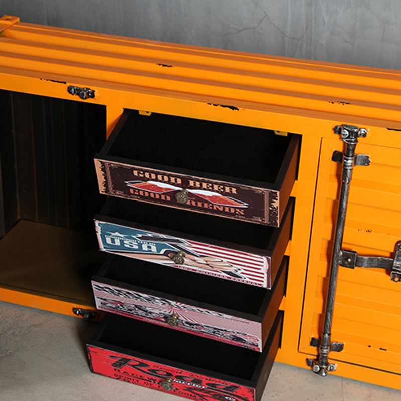 shipping container furniture metal cabinet living room cabinet