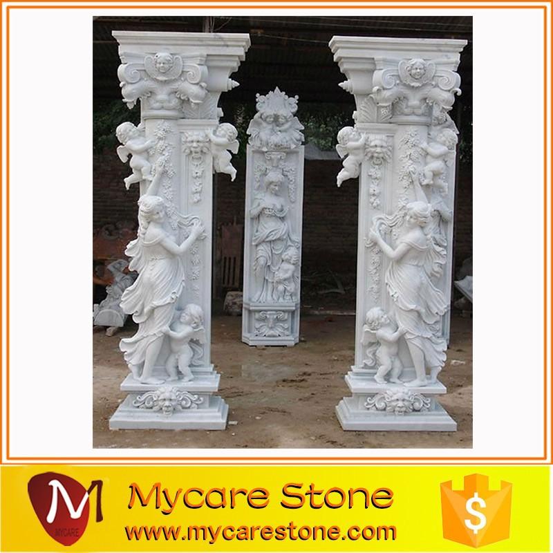 Садовые каменные мраморные колонны и столбики в продаже