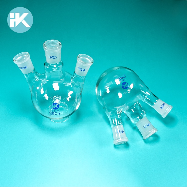 High quality Huke Angled Three Neck Round Bottom Distilling Flasks