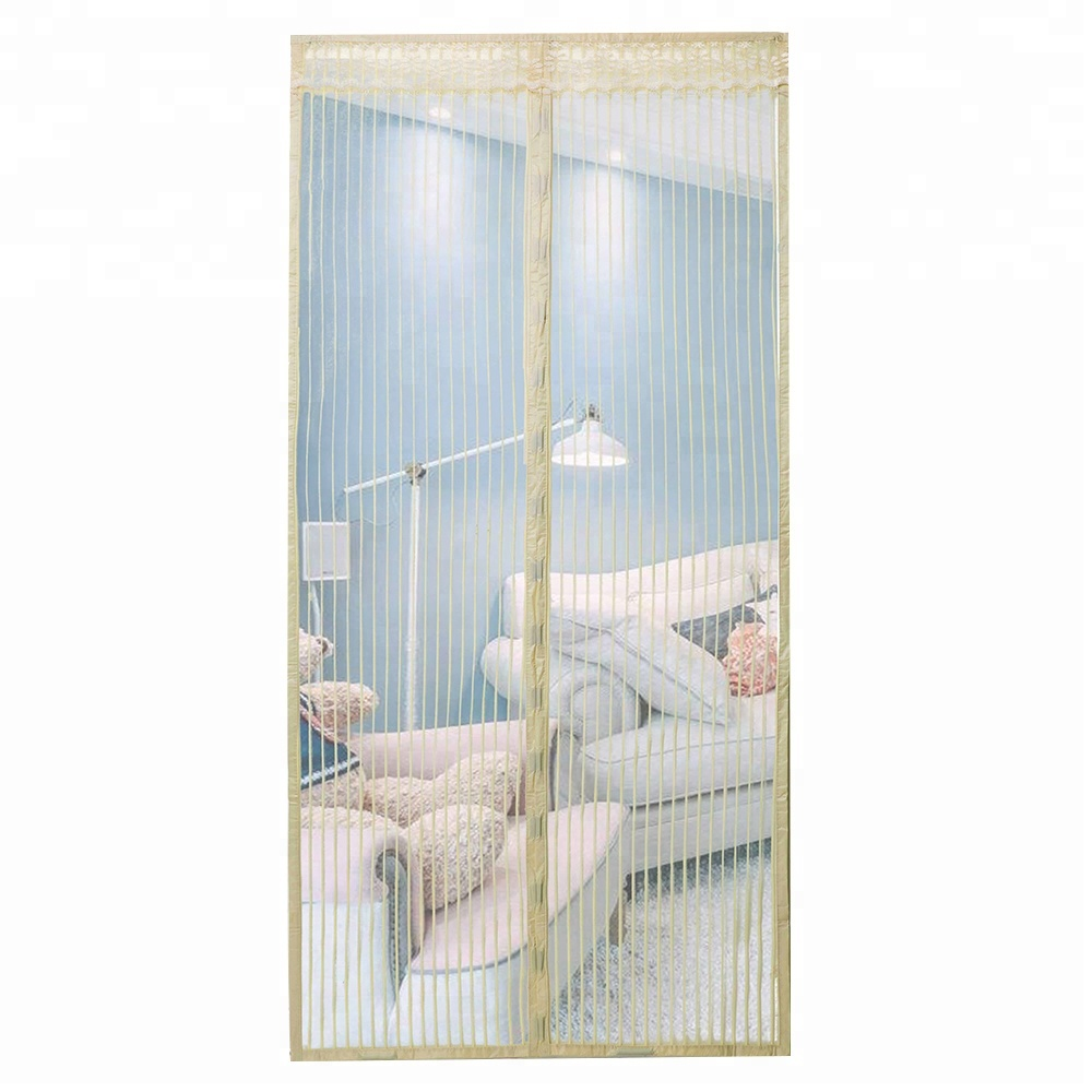 FREE SAMPLE weightedDOOR&WINDOW SCREEN designhe magnetic strip is insect proof fiberglass polyester mesh