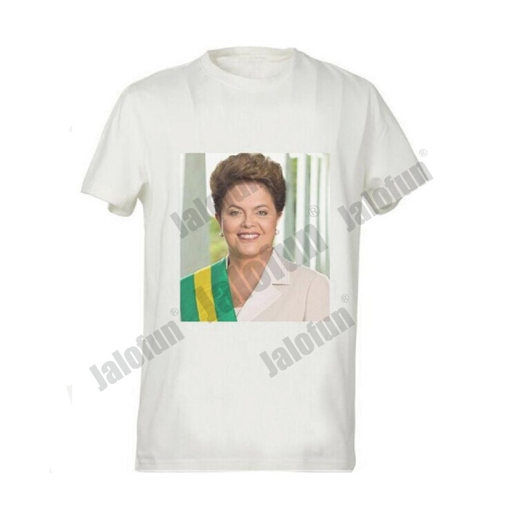 Custom women men plain stretch print 100 cotton t shirt