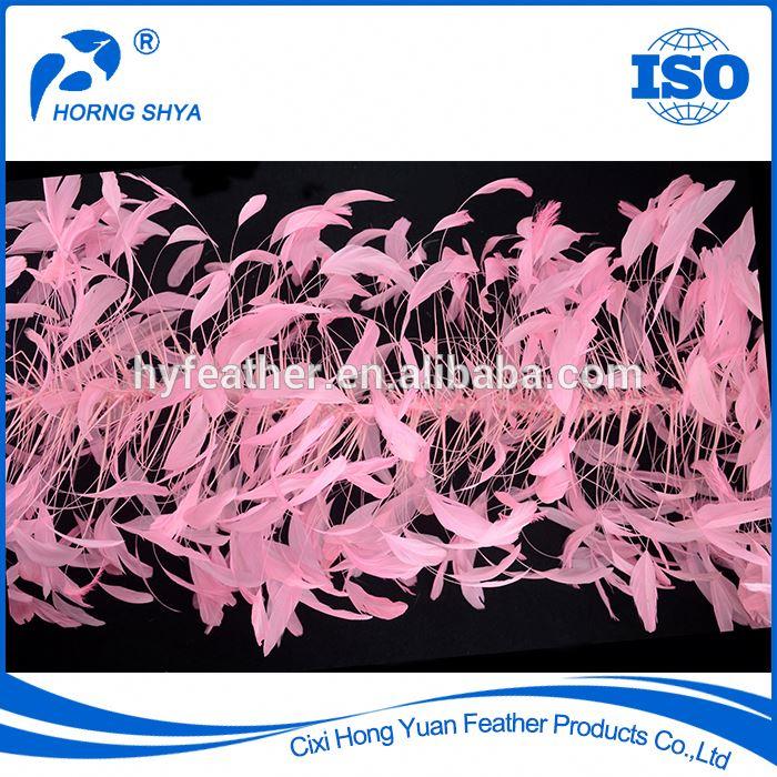 Ведущий поставщик перьев для оптовой продажи перьевая бахрома и отделка для Продажи индивидуальная OEM черная белая отделка страусиного пера
