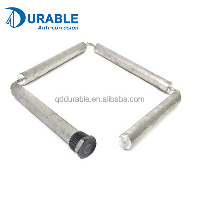 Гибкий анодный стержень из алюминия и цинка для водонагревателя