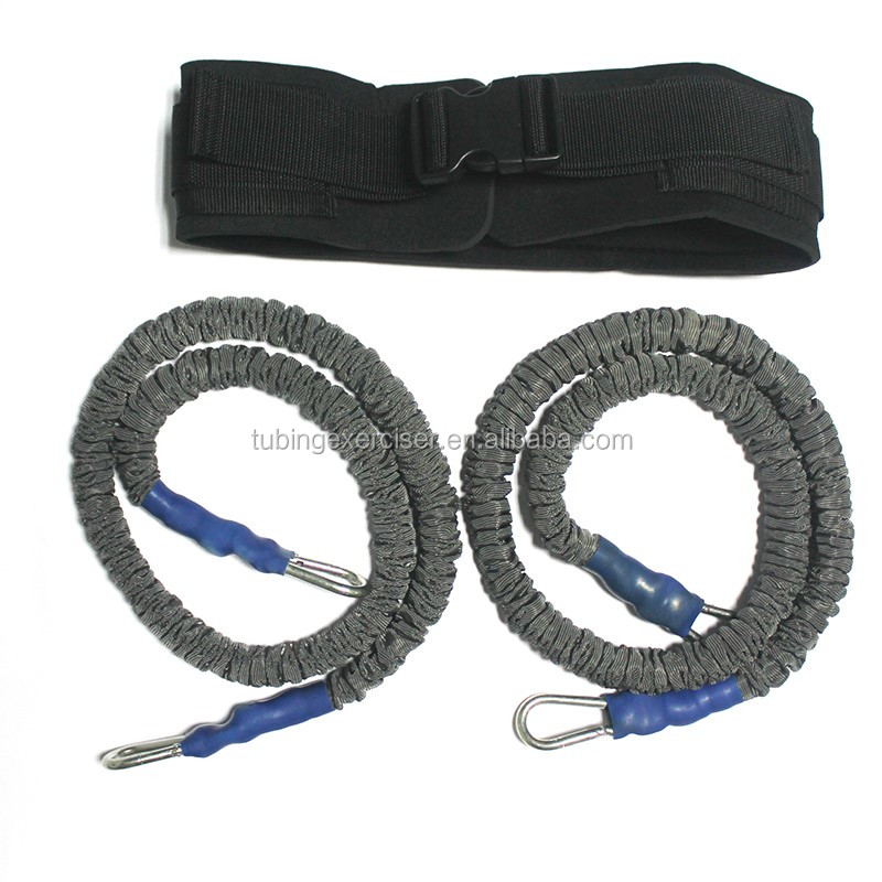Outdoor fitness running resistance bands/cord with belt