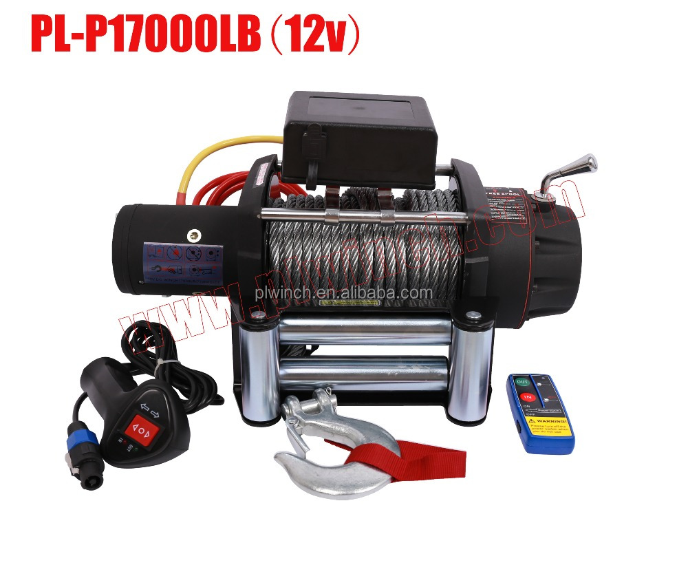 17000lbs truck heavy duty electric winch with good quality