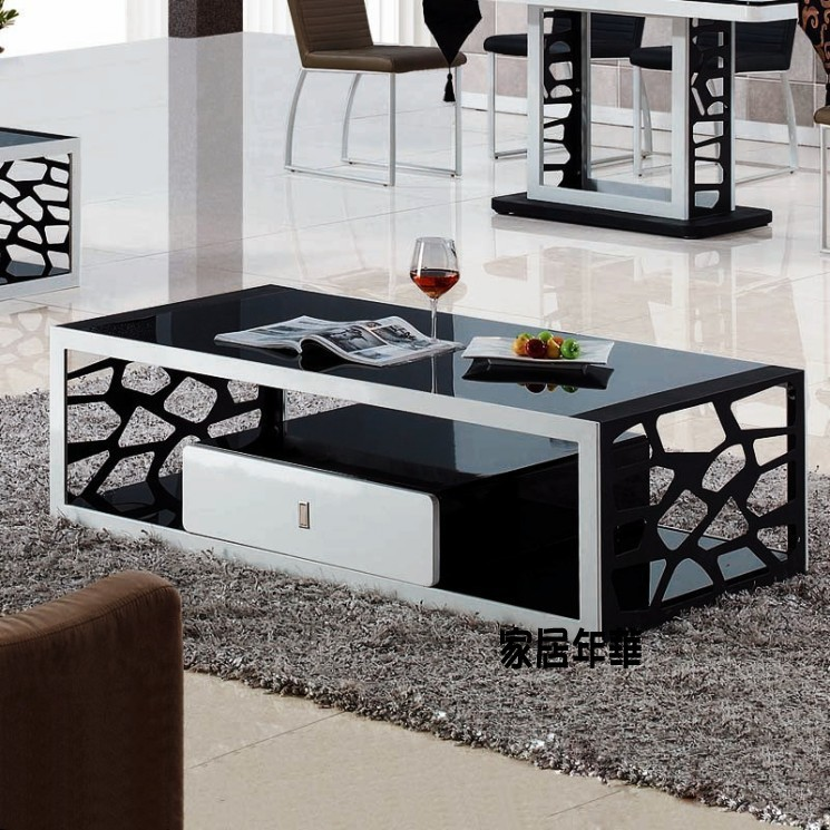 Cheap Coffee Table Stylish Simplicity Glass Coffee Table
