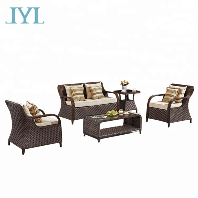 hot sale garden waterproof patio furniture rattan outdoor sofa set