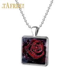 Женское ожерелье ручной работы TAFREE, ожерелье с квадратными подвесками в виде цветов, платье с юбкой и цветочным узором, ювелирные изделия в ...(Китай)