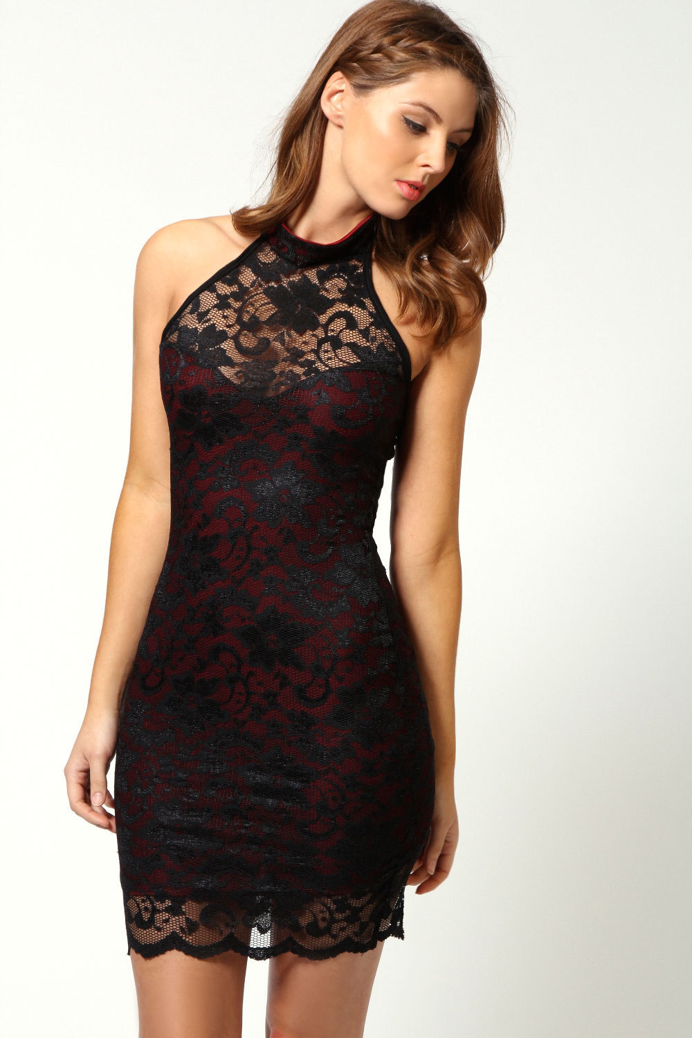 Lace dresses party black sexy