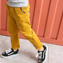 530434cb225f7 FYH Nouveaux Enfants Vêtements Enfants Pantalon Printemps Automne Pleine  Longueur Élastique Taille Pantalon Pantalon En Velours