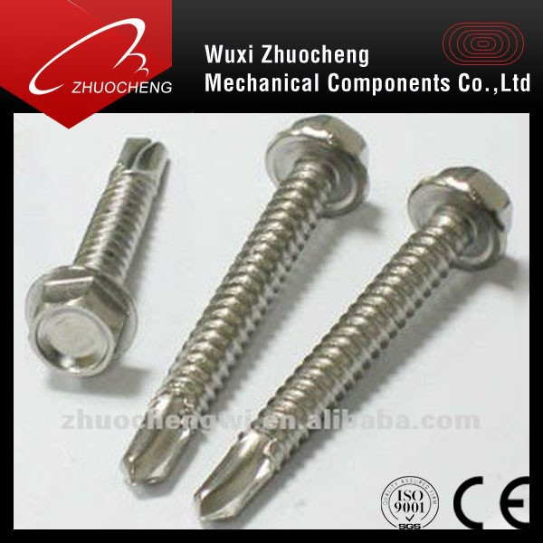 stainless steel self drilling screw, roofing screw, tek screw for roof