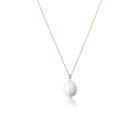 925 Sterling Silver Dainty Single Pearl Necklace 14k Gold Plated Bridesmaids Baroque Pearl Necklace