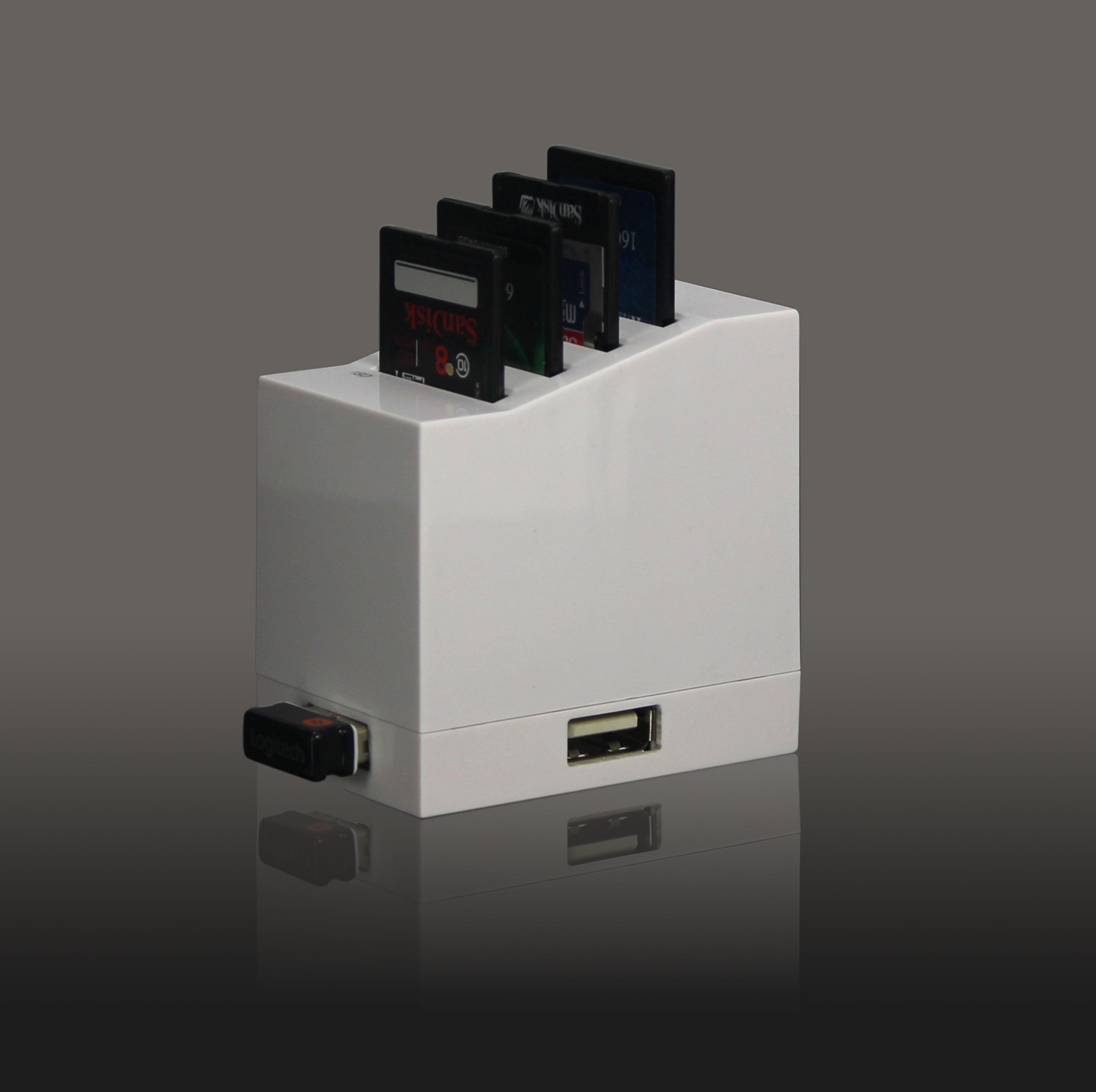 4 port SD card reader+usb 3 port hub - USBSKY   USBSKY.NET