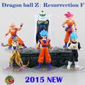 hot 6pcs set 12cm Dragon ball Z Resurrection of f Super Saiyan Son Goku Kakarotto Frieza