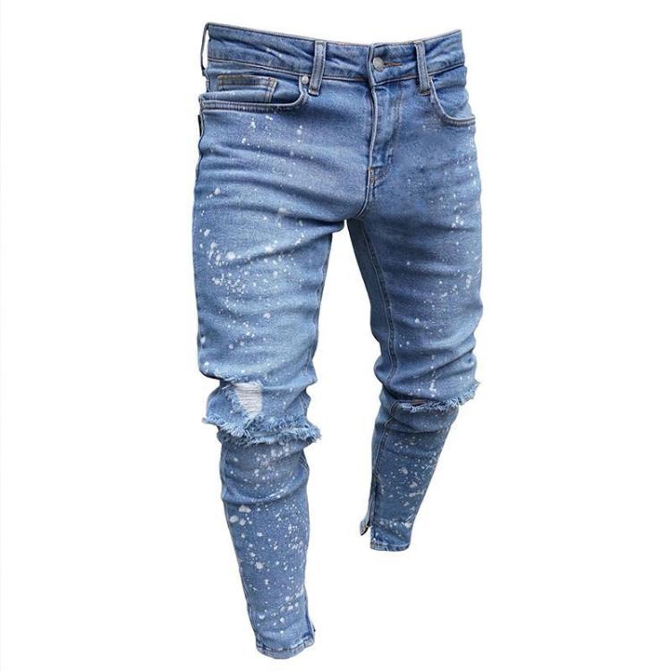 De Los Hombres De La Moda Es Ripped Skinny Jeans Destruidos Slim Denim Pantalones Con Cremallera Buy Pantalones Vaqueros Desgastados Para Hombre Product On Alibaba Com