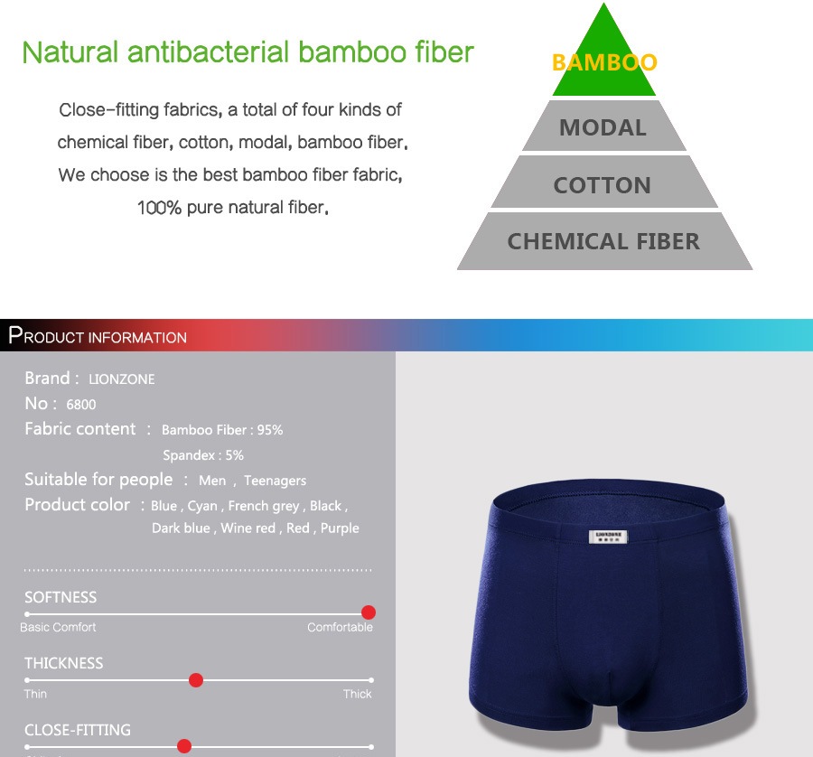 Letto A Castello In Bamboo.Linezone Newly Hot Pure Color Bamboo Fiber Men S Underwear Boxer Business Men Daily Clothing 1piece