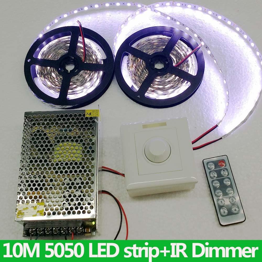 kit 10m 5050 rgb led strip light dimmer white tape 12v 2 4g touch remote power ebay. Black Bedroom Furniture Sets. Home Design Ideas