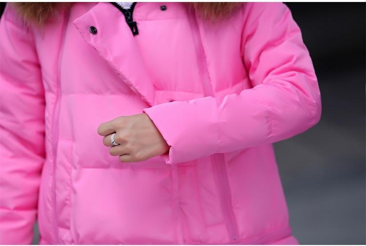 Пуховик длинная, зима женщины пуховик пальто супер большие воротник куртка пальто плащ толстый надьямарош воротник