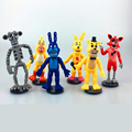 6pcs set PVC Five Nights At Freddy s Action Figures Toys Foxy Freddy Fazbear Bear Doll