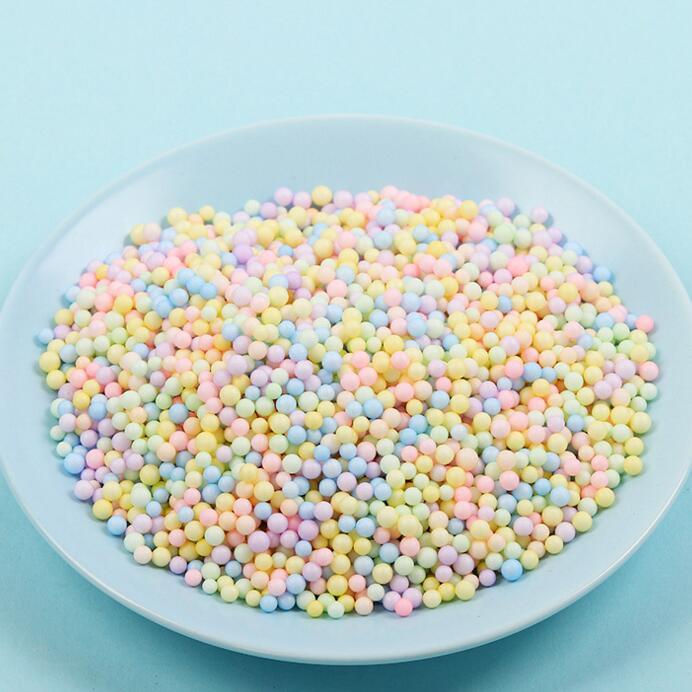 Оптовая цена, бесплатный образец, шарики Макарон из пенопласта, самодельные шарики из пенопласта для домашнего изготовления, набор слаймов, поделки
