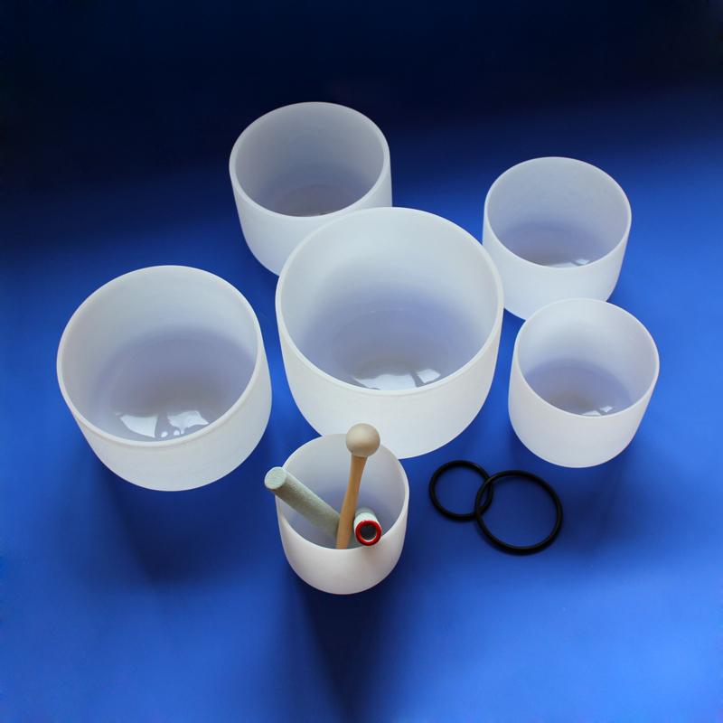 Чакра HUAMEI 440 Гц и 432 Гц, набор мелодий, Кварцевая Хрустальная Поющая чаша 6-24 дюйма