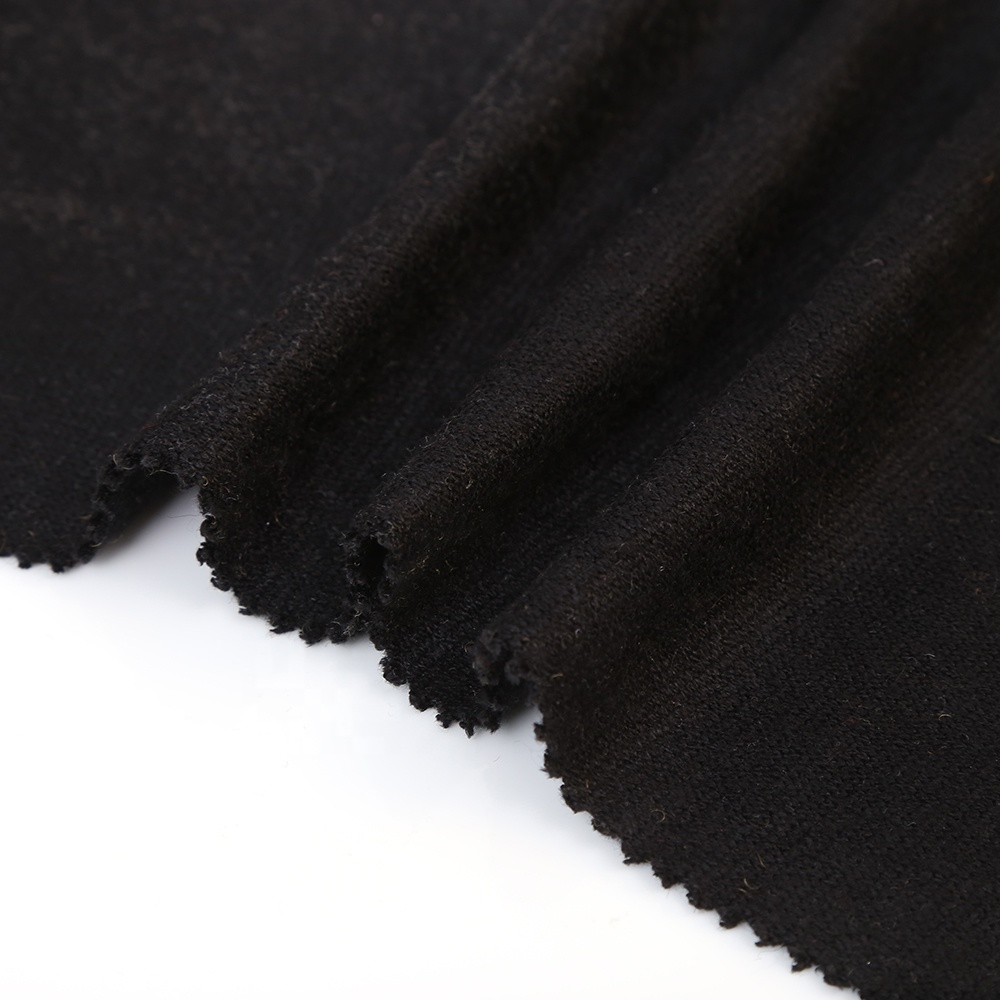Best price cashmere warp brushed polyester sweater knitted italian wool knit fabric