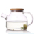 3.7mm 1000ml Wholesale eco-friendly heat-resisting glass inspissate flower teapot