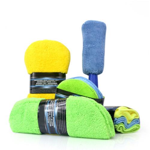 winter car wash kit microfiber car cleaning set with mitt towel brush