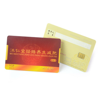 Customized offset printing signature panel credit card size membership 4442 chip card maker