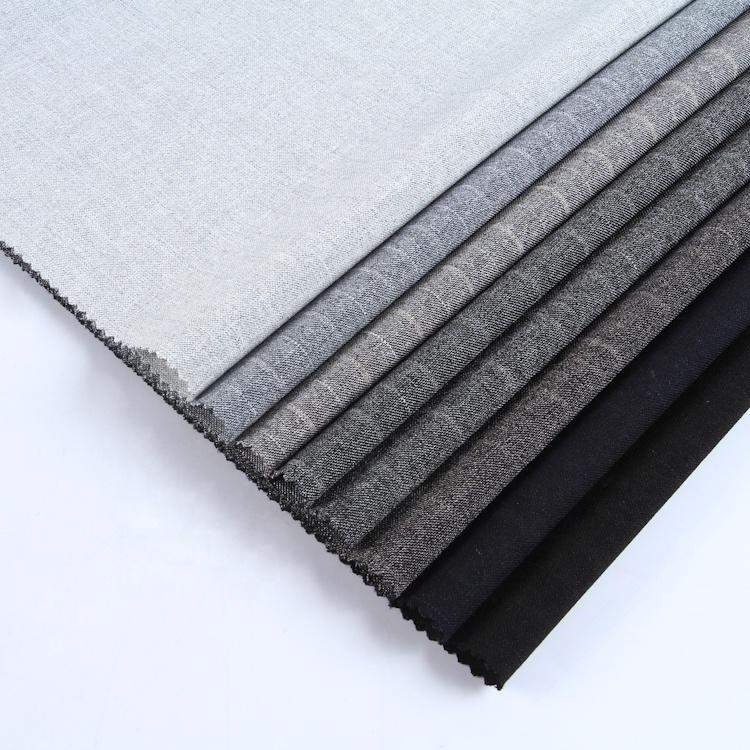 Новейшие товары для одежды, супер мягкая серая полоса, эластичная полиэфирная нейлоновая ткань из спандекса