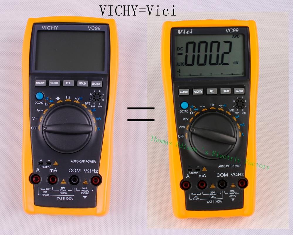 vichy vc99 3 6 7 auto range digital multimeter with bag better 17b original genuine meter us875. Black Bedroom Furniture Sets. Home Design Ideas