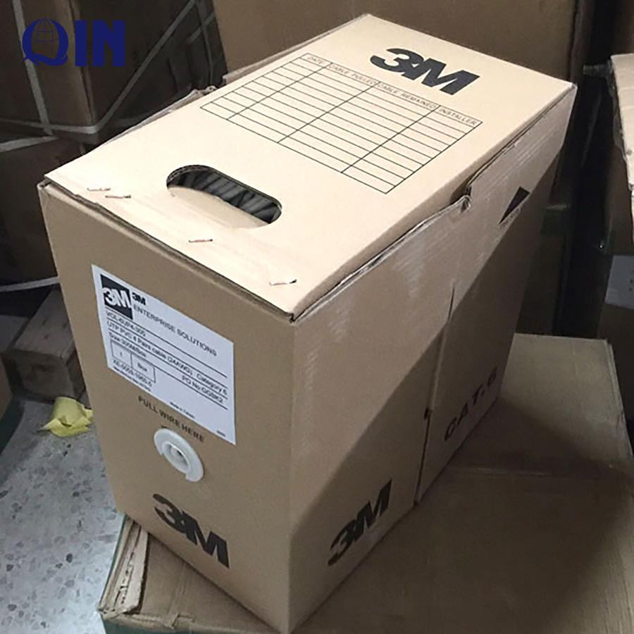 Blue grey color 3M 4 pairs utp lan cable cat6 pass dtx-1800 test 305m/box
