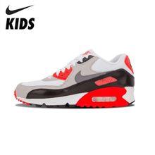 Nike Air Max 90 Prem Mesh (GS) Новое поступление, оригинальные детские кроссовки для бега, удобные детские спортивные кроссовки на открытом воздухе #...(Китай)