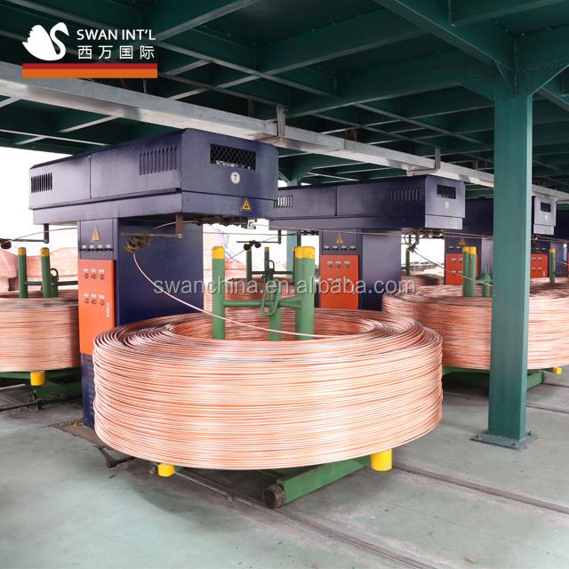 upward continuous copper rod casting machine