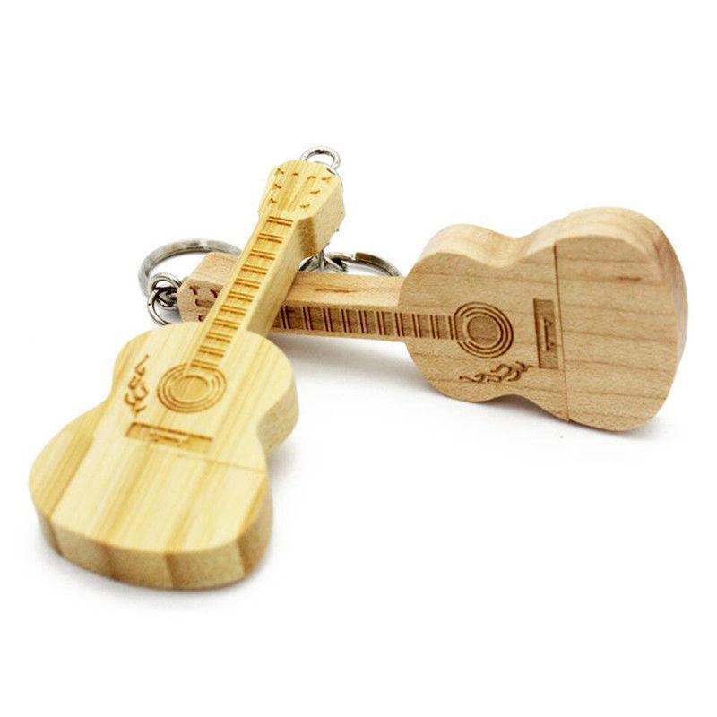 Wholesale Gifts wood guitar shape usb flash drive,wooden Memory USB 2.0 Stick pendrive - USBSKY | USBSKY.NET