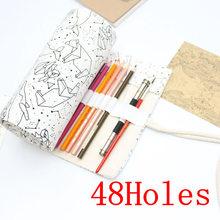 Большой чехол для карандаша с 36/48/72 отверстиями, школьный холщовый чехол, коробка для наполнителя, созвездия, чехол Кисть для эскиза, ручка, п...(Китай)