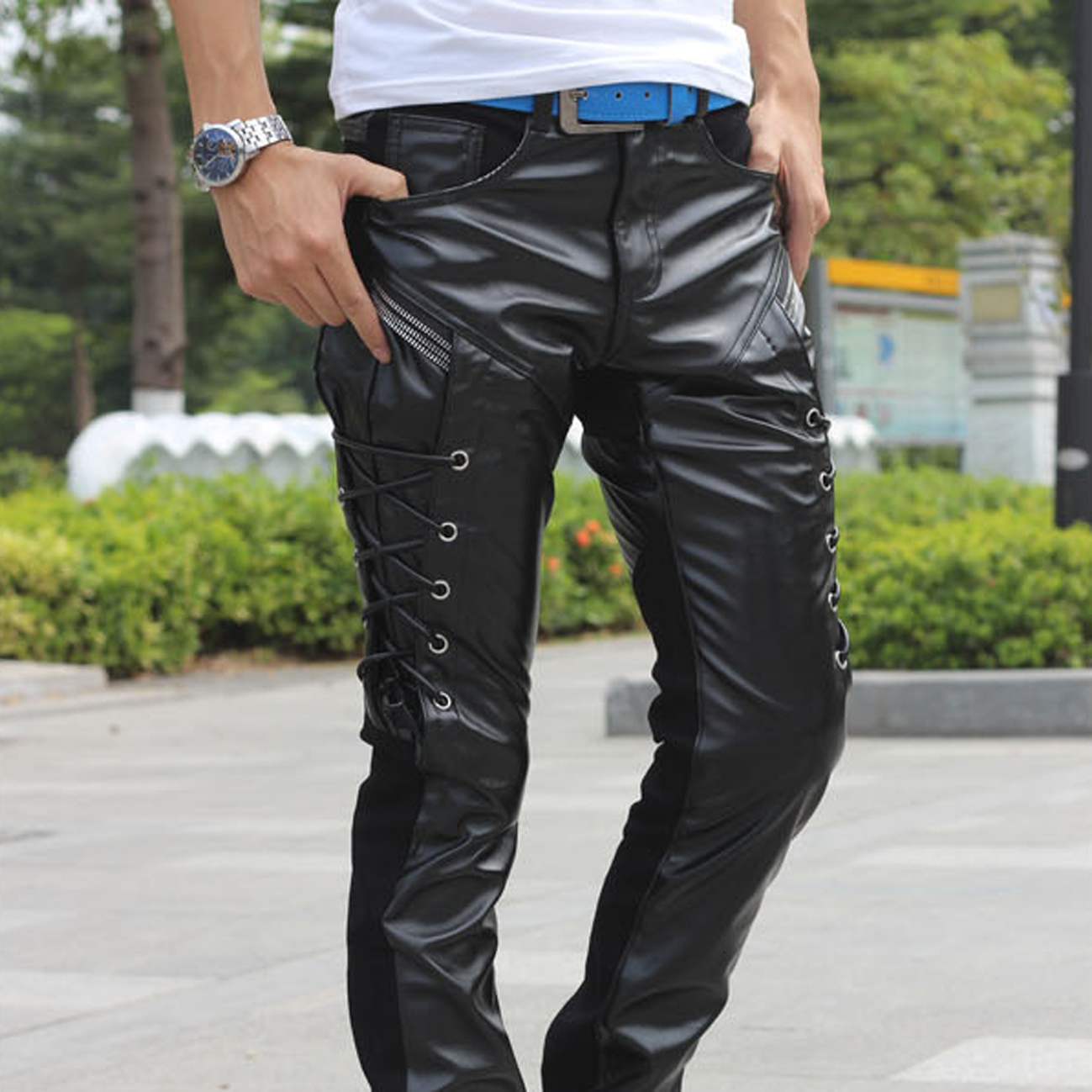 Popular mens skinny leather pants of Good Quality and at Affordable Prices You can Buy on AliExpress. We believe in helping you find the product that is right for you. AliExpress carries wide variety of products, so you can find just what you're looking for – and maybe something you .