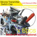 8 pcs Silicone Transmitter Anti slipping Stick Switch Cap Sheath for FrSky Taranis QX7 Horus Futaba
