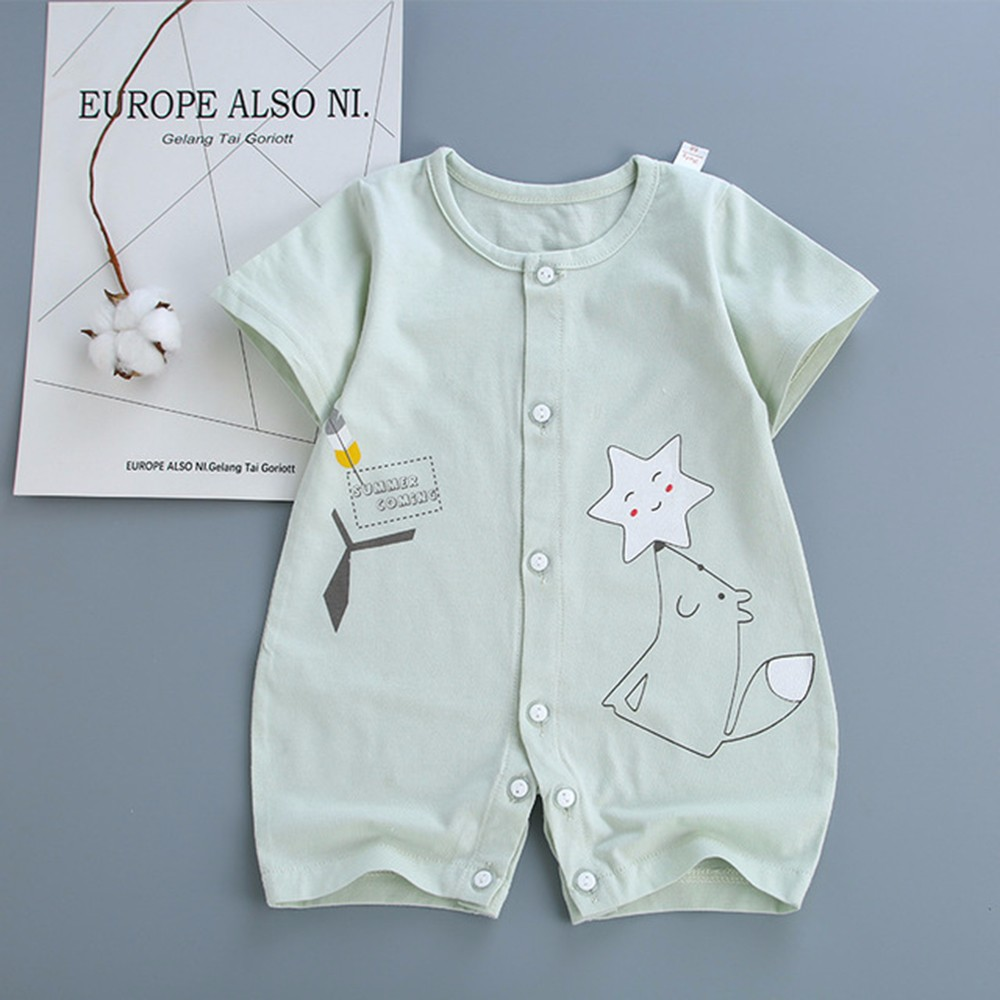 0f4707fbc Round neck design, soft wrapping, pull no deformation, care of the baby\'s  neck 3 trouser button design, easy to wear and replace diapers
