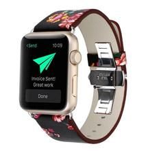 Роскошный кожаный ремешок для наручных часов iWatch, ремешок для наручных часов Apple Watch, версии 4/3/2/1 38 мм 40 мм 42 44 мм кабель-браслет на запястье ...(Китай)