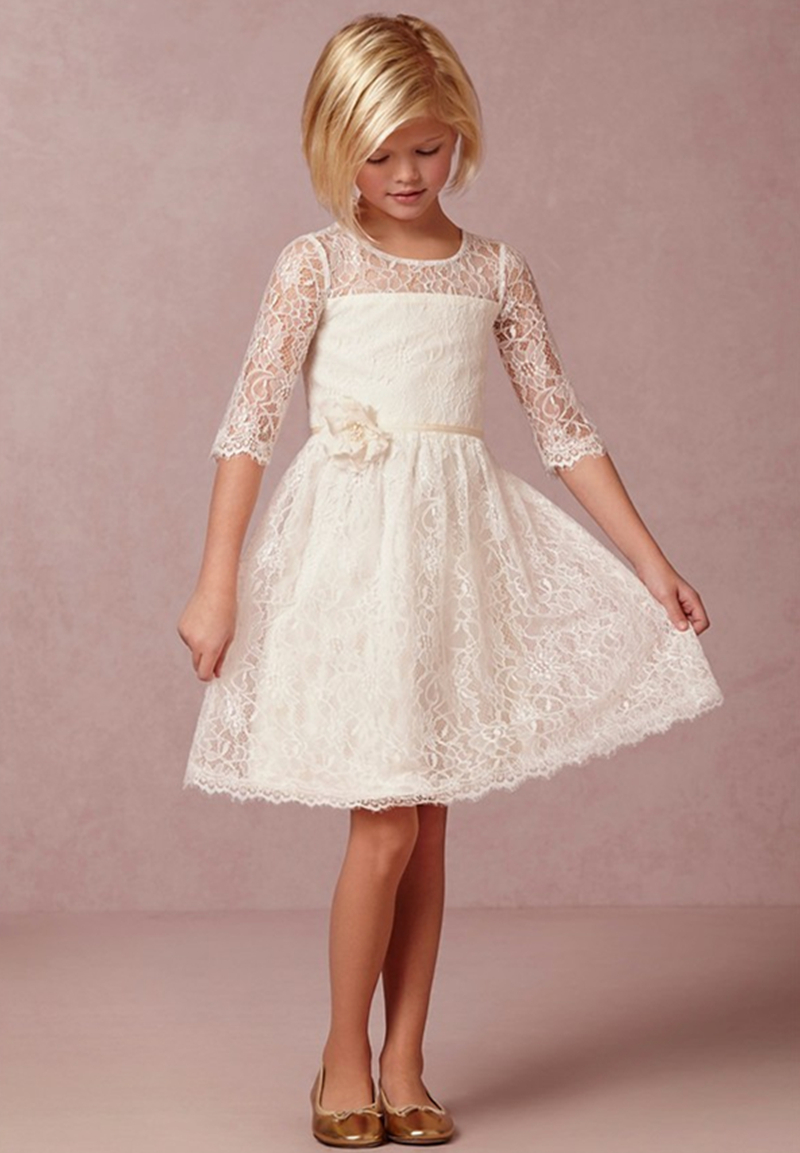 Aliexpress.com : Buy 2015 Ivory Vintage Lace Flower Girl
