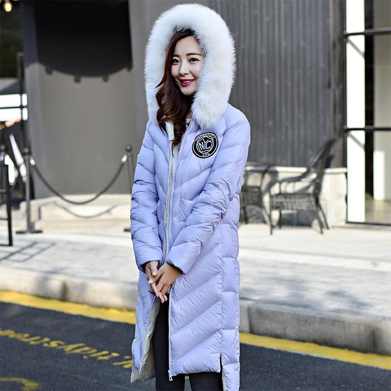 Brand New 2016 High Quality Large Real Fox Fur Collar Women Down Jacket font b Winter
