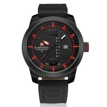 Часы NAVIFORCE с датой, мужские кварцевые часы, повседневные военные спортивные часы, кожаные Наручные часы, мужские часы, 2019(Китай)