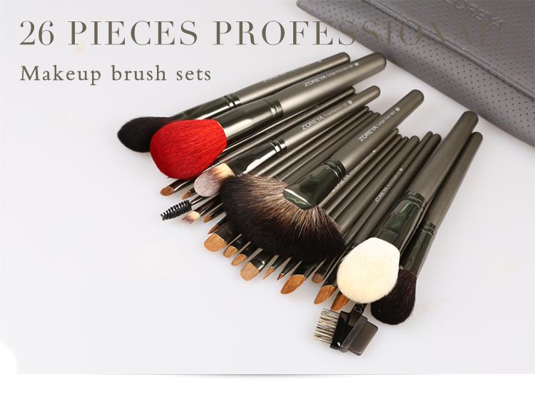 ZOREYA Brand 26Pcs Luxury Natural Goat Hair Fan Makeup brushes Professional Cosmetic Makeup Brush set Beauty Eye Shadow Brushes-shadow brush-fan makeup brush-eye shadow brush - AliExpress - 웹