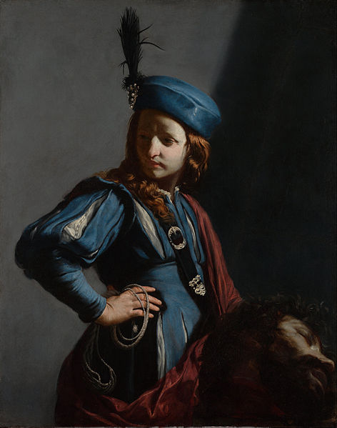Canvas Art Prints Stretched Framed Giclee World Famous Artist Oil Painting Guido Cagnacci <font><b>Italian</b></font> David Head Of Goliath