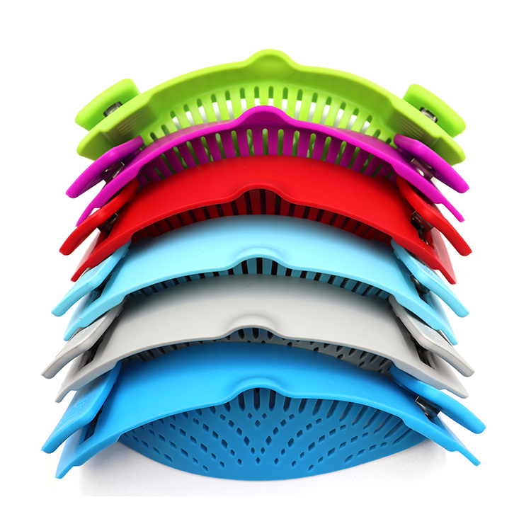 Heat Resistant Easy To Use And Store Clip-On Snap Strainer Kitchen Food Strainer For Noodles And Vegetables