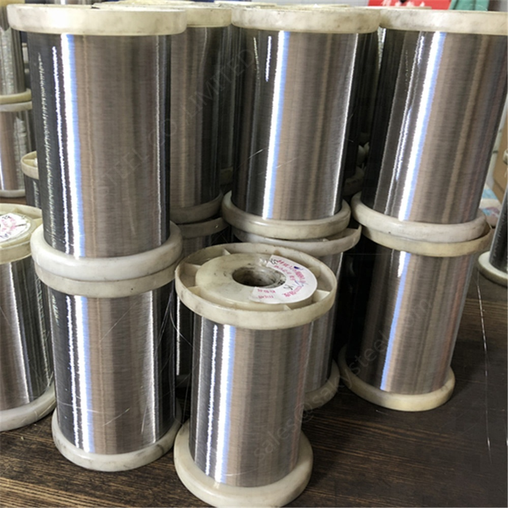 0.035mm 0.08mm 0.016mm stainless steel tiny wire soft and hard Semi-soft Wire scourer/spring wire 304 316 410 420 430
