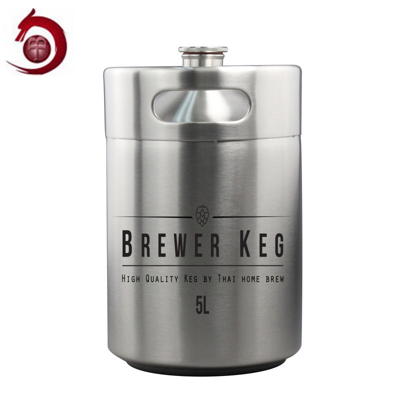 Party Gift Food Grade carbonated mini 2 litre beer keg with customized logo
