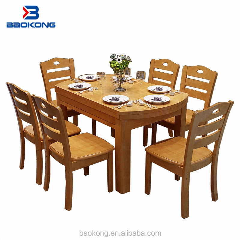 6 Seater Dining Table Set Solid Wood Home Furniture Buy Folding Dining Table Set Different Types Of Table Setting Space Saving Dining Set Product On Alibaba Com