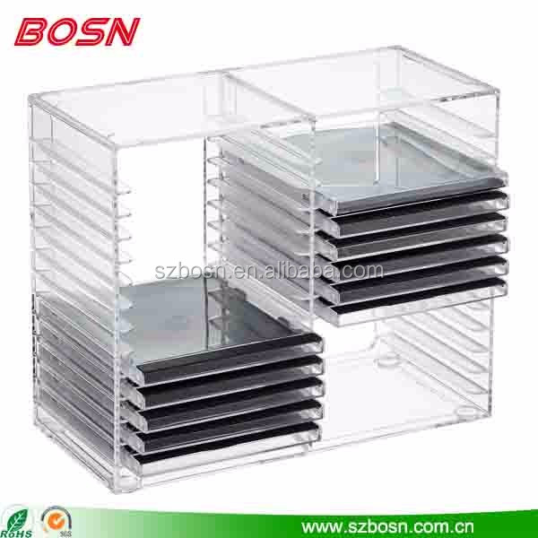 Clear Large Acrylic Dvd Container Shelf Lucite Plastic Cd Storage Display Rack For Retail